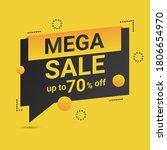 modern background mega sale...   Shutterstock .eps vector #1806654970