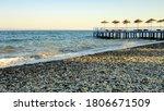 Stony Beach On A Sunny Day....