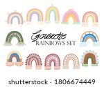boho rainbows kit. cute macrame ... | Shutterstock . vector #1806674449