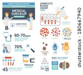 medical checkup infographics | Shutterstock .eps vector #180667940