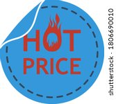 hot price icon. flat color...