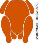 chicken icon. flat color design....