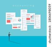 accounting website vector... | Shutterstock .eps vector #1806698059