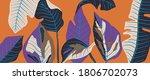 luxury leaf art deco wallpaper. ... | Shutterstock .eps vector #1806702073