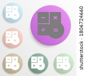 calculator sign badge color set....