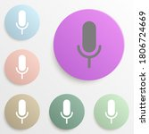 microphone badge color set....