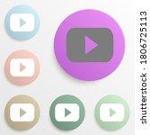 play logo badge color set....
