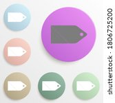 price tag web badge color set....
