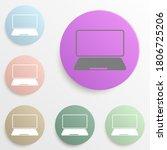 laptop badge color set. simple...