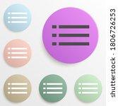 list character badge color set. ...