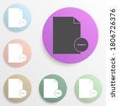 sign delete sheet badge color...