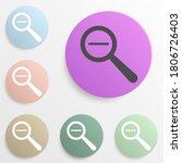magnifier minus badge color set....