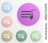 sign musical sheet badge color...