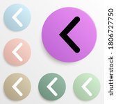 bracket badge color set. simple ...