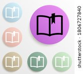 book with a bookmark badge...