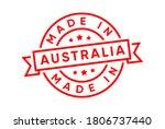 made in australia stamp vector  | Shutterstock .eps vector #1806737440