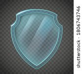 glass shield. icon isolated on... | Shutterstock .eps vector #1806743746
