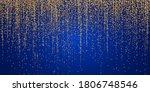gold glitter garlands hanging... | Shutterstock .eps vector #1806748546