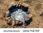 Simple Outdoor Fireplace With...