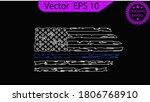 thin blue line us flag. flag... | Shutterstock .eps vector #1806768910