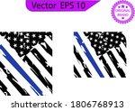 thin blue line us flag. flag... | Shutterstock .eps vector #1806768913