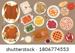 thanksgiving traditional treat ... | Shutterstock .eps vector #1806774553