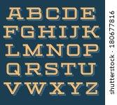 vintage vector decorative font... | Shutterstock .eps vector #180677816