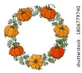 wreath is made from color...   Shutterstock .eps vector #1806779740
