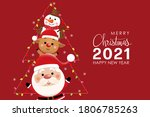 merry christmas and happy new... | Shutterstock .eps vector #1806785263