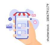 design concept of online... | Shutterstock .eps vector #1806791179