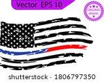 firefighter distressed flag ... | Shutterstock .eps vector #1806797350