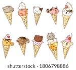 Kawai Ice Cream. Frozen Gelato...