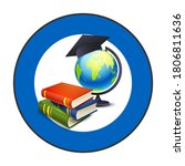 graduation cap stack of books... | Shutterstock .eps vector #1806811636