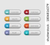 colorful web design button... | Shutterstock .eps vector #1806816379