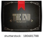 movie ending screen   editable... | Shutterstock .eps vector #180681788