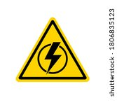 power outage. sign without... | Shutterstock .eps vector #1806835123