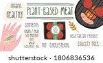 meat healthy alternative for... | Shutterstock .eps vector #1806836536