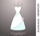 wedding dress    Shutterstock .eps vector #180684104