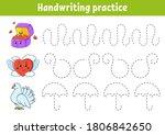 handwriting pactice. education...   Shutterstock .eps vector #1806842650