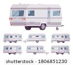 rv vintage style camper  travel ...   Shutterstock .eps vector #1806851230