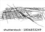 outline city concept. wire...   Shutterstock . vector #1806853249