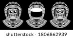 spaceman skull. modern space...   Shutterstock .eps vector #1806862939