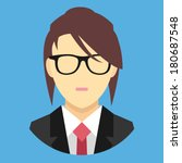 vector woman in business suit...