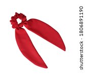 Red Color Bow Knot Scrunchies...