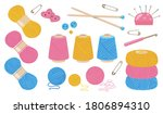 threads for sewing flat...   Shutterstock .eps vector #1806894310