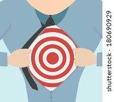 super hero tearing open his... | Shutterstock .eps vector #180690929