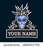 Punk Demonic Logo. Biker Man In ...