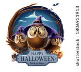 halloween illustration with... | Shutterstock .eps vector #1806921913