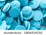 blue round chocolate chips for... | Shutterstock . vector #1806924250