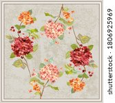 flower pattern for scarf and... | Shutterstock .eps vector #1806925969